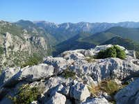 Velebit from summit of Anica Kuk