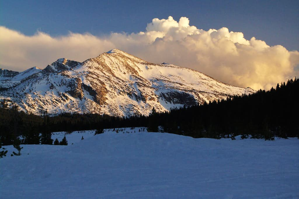 Mammoth Peak from near Tioga Lake
