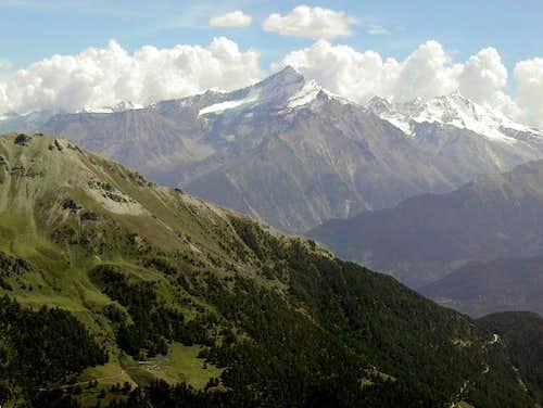 Southward view descending from Punta Fetita to Col de Bard
