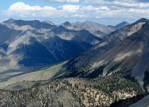 Peaks north of Borah
