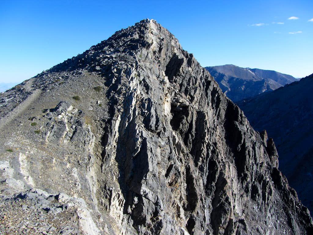 Cliffs below trail
