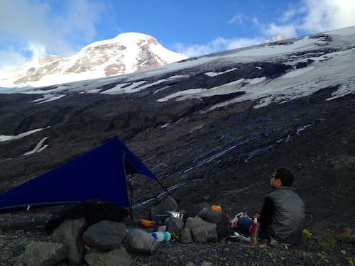 Mt Baker Coleman-Deming Hogsback- NO snow in July 2015