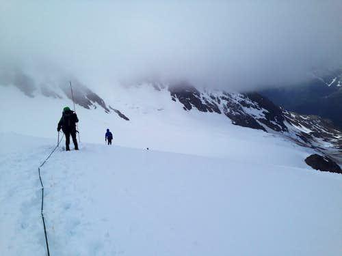 Cleveland Glacier going up to Mt. Cleveland