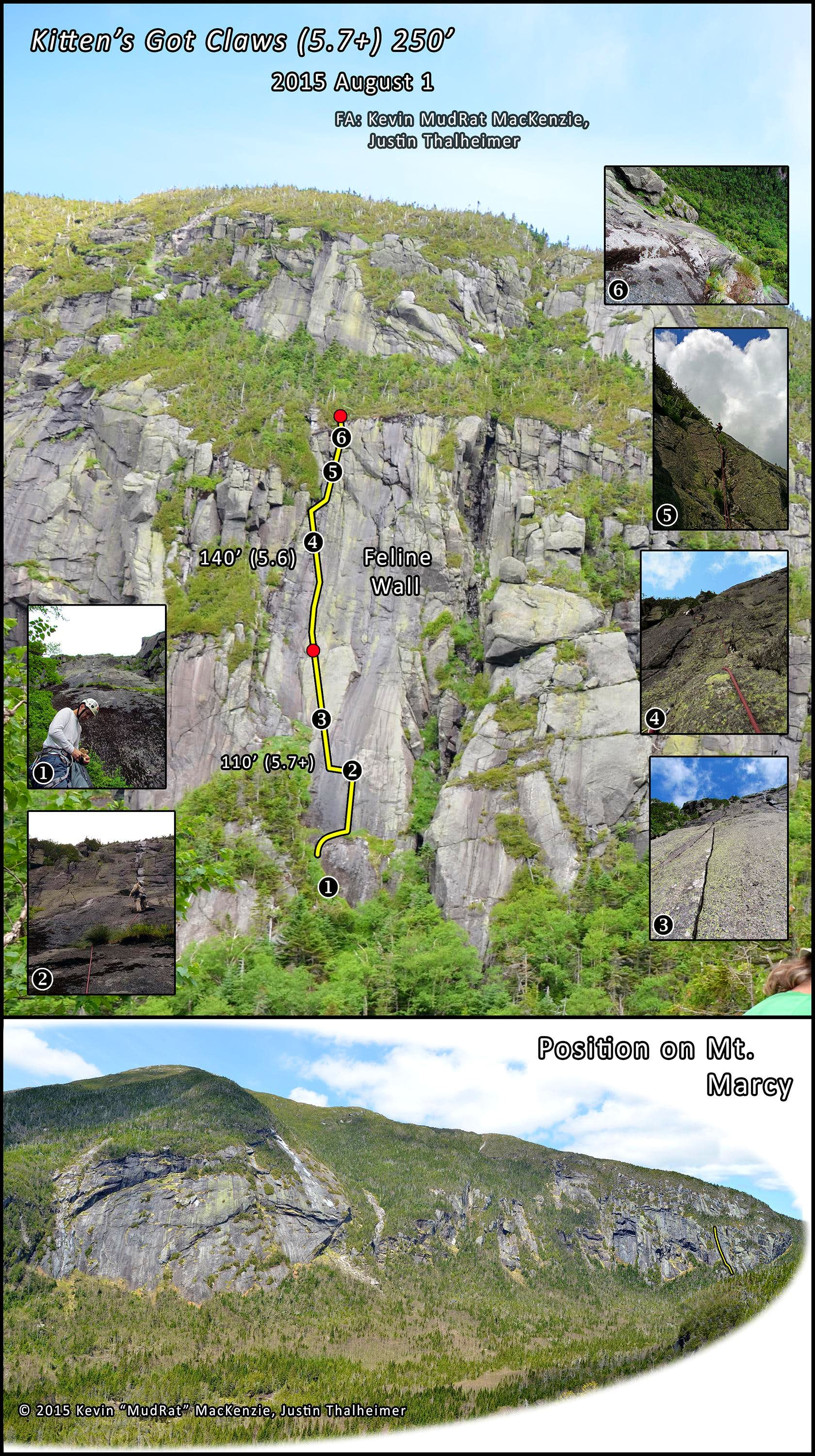 Panther Gorge-A New Marcy Route (Kitten\'s Got Claws) 2015  August 1