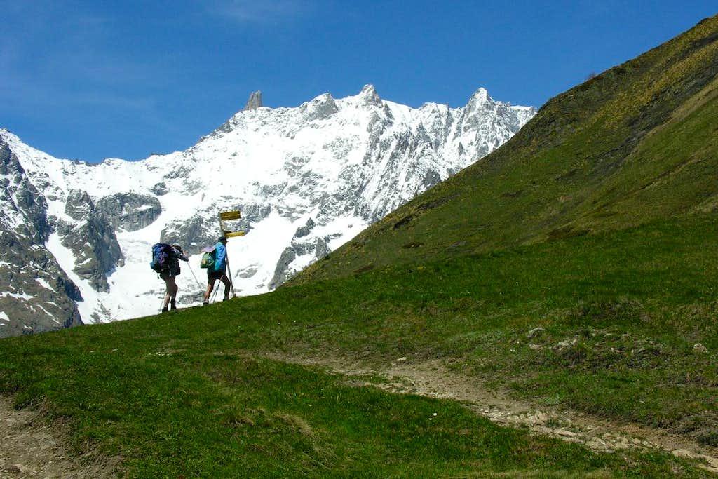 Mont de la Saxe Ascending towards Berone Refuge 2005