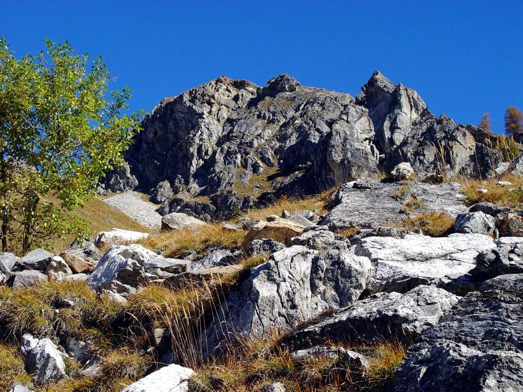 Tête de la Tronche Ascending towards Col Sapin 2002