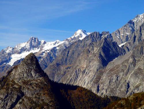 Tête de la Tronche to Aig.s des Glaciers & Trélatête 2002