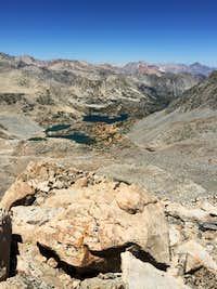 Bishop and Saddlerock Lakes from Mount Agassiz