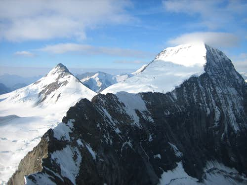 Moench seen from the summit of the Eiger