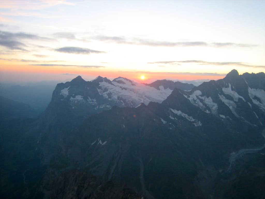 Sunrise over the Wetterhorn