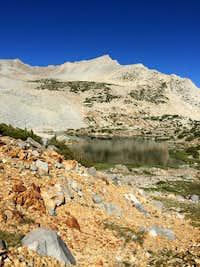 Mount Goode over Bishop Lake