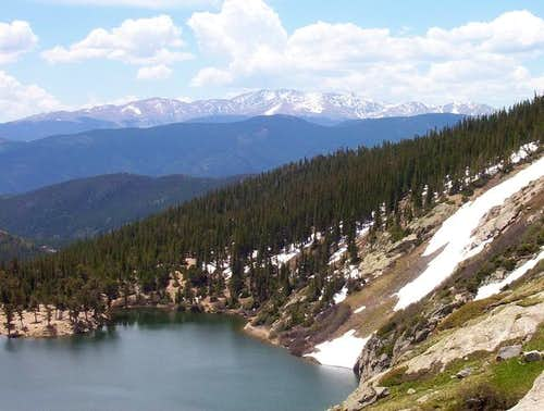 The Mount Evans massif seen...