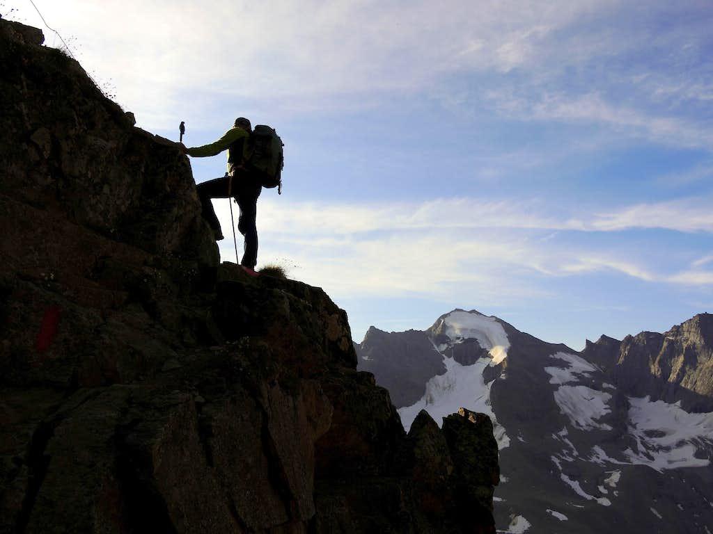 Up Croda di Cengles (Tschenglser Hochwand) Normal route