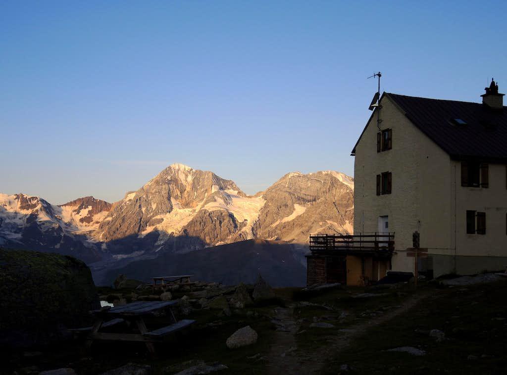 Serristori Hut and Gran Zebrù