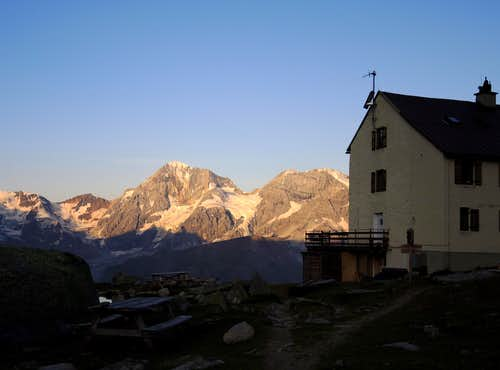 Serristori Hut and Gran Zebrù