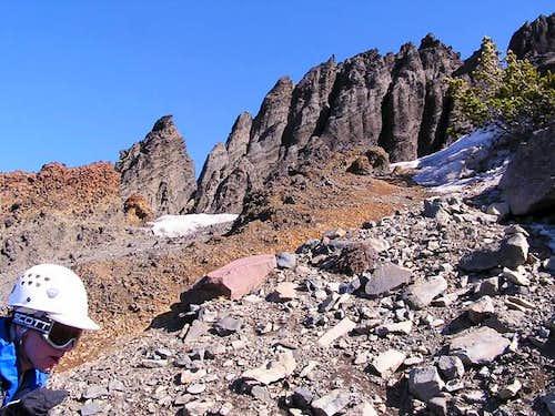 Heading up the west ridge...