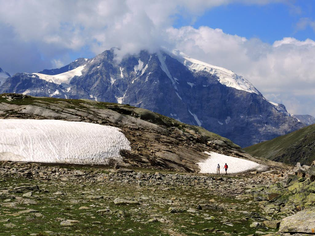 The majestic Ortles seen from Croda di Cengles approach