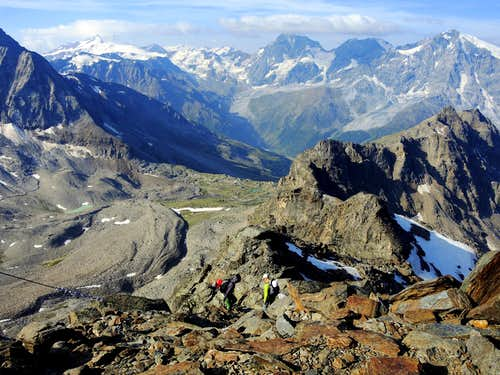 Croda di Cengles - Tschenglser Hochwand, on the return way after summiting