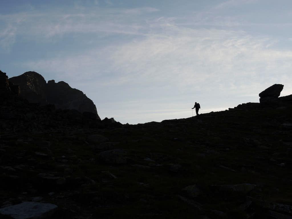 Early morning approach, Croda di Cengles