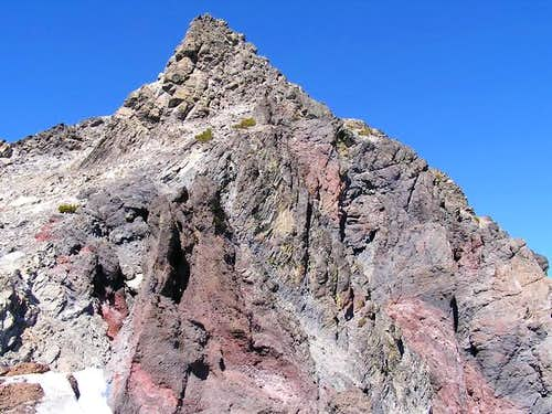 The summit pinnacle from the...