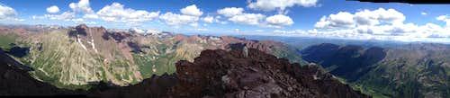 Beautiful summit panorama