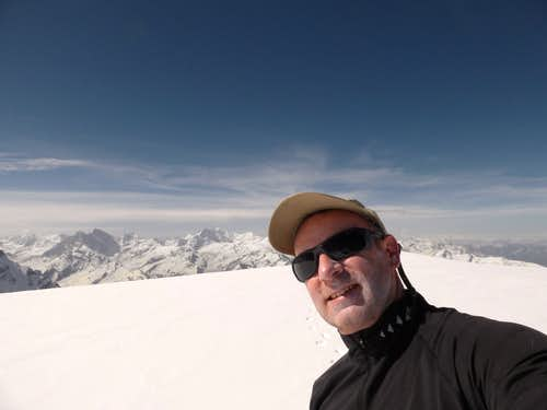 Selfie in one of the best campsite views ever, Camp 2 6100m on Nun Kun