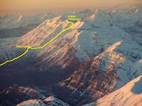 Mt. Timpanogos route drawn by...