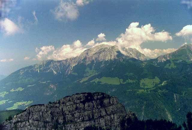 The Göllstock seen from top...