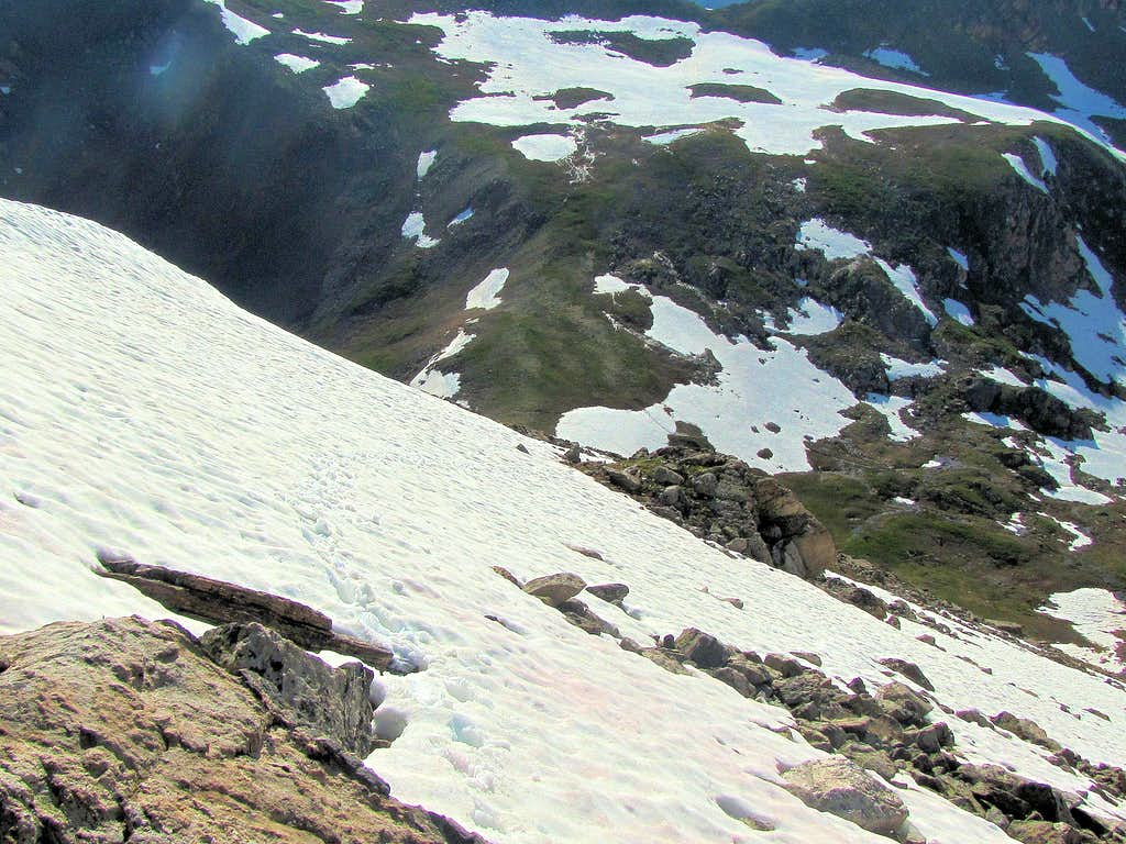A snowfield I crossed