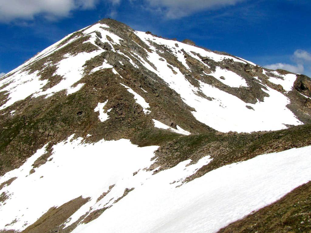 Summit and eastern ridgeline