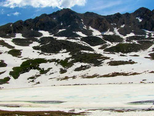 Independence Lake & Twining Peak North 13545 ft
