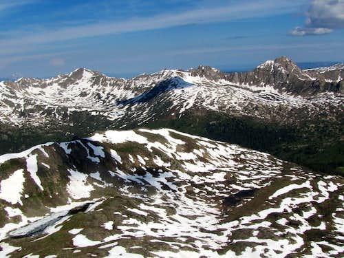 Williams Peak on the right