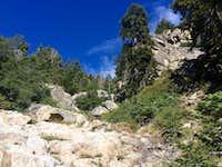 Ascending towards the summit via Upper Kramer Creek