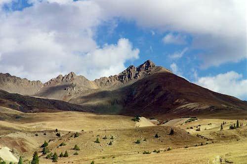 En route to Wetterhorn Peak;...