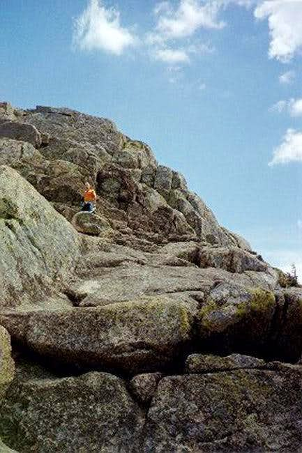 The summit cone of Chocorua....