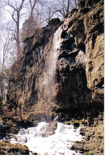 The waterfall in the upper...