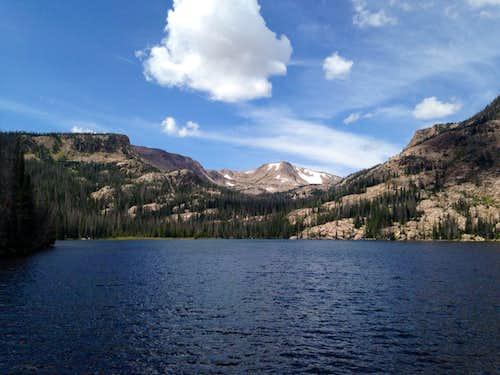 Mount Ethel from Upper Rainbow Lake