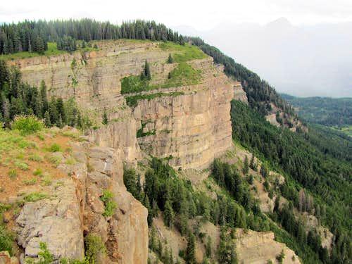Hermosa Cliffs, Potato Hill on the right