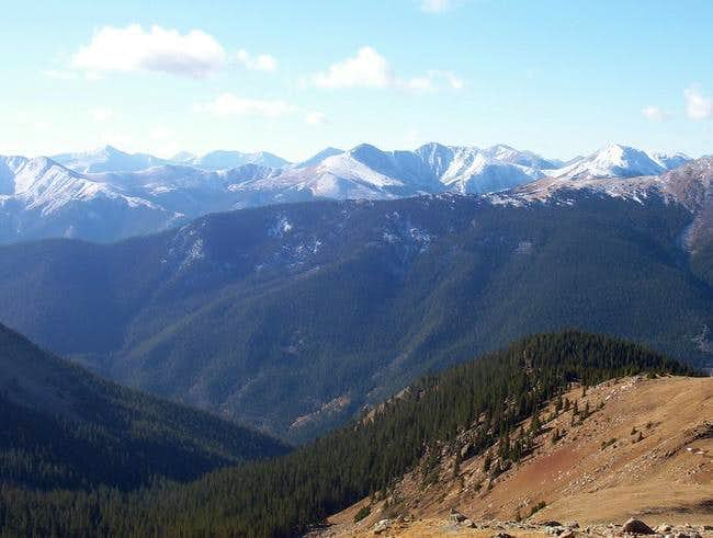 Rugged unnamed peaks of the...