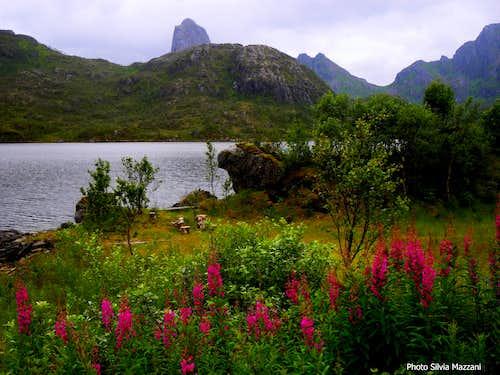 The stunning Raekka peeking behind the fjord