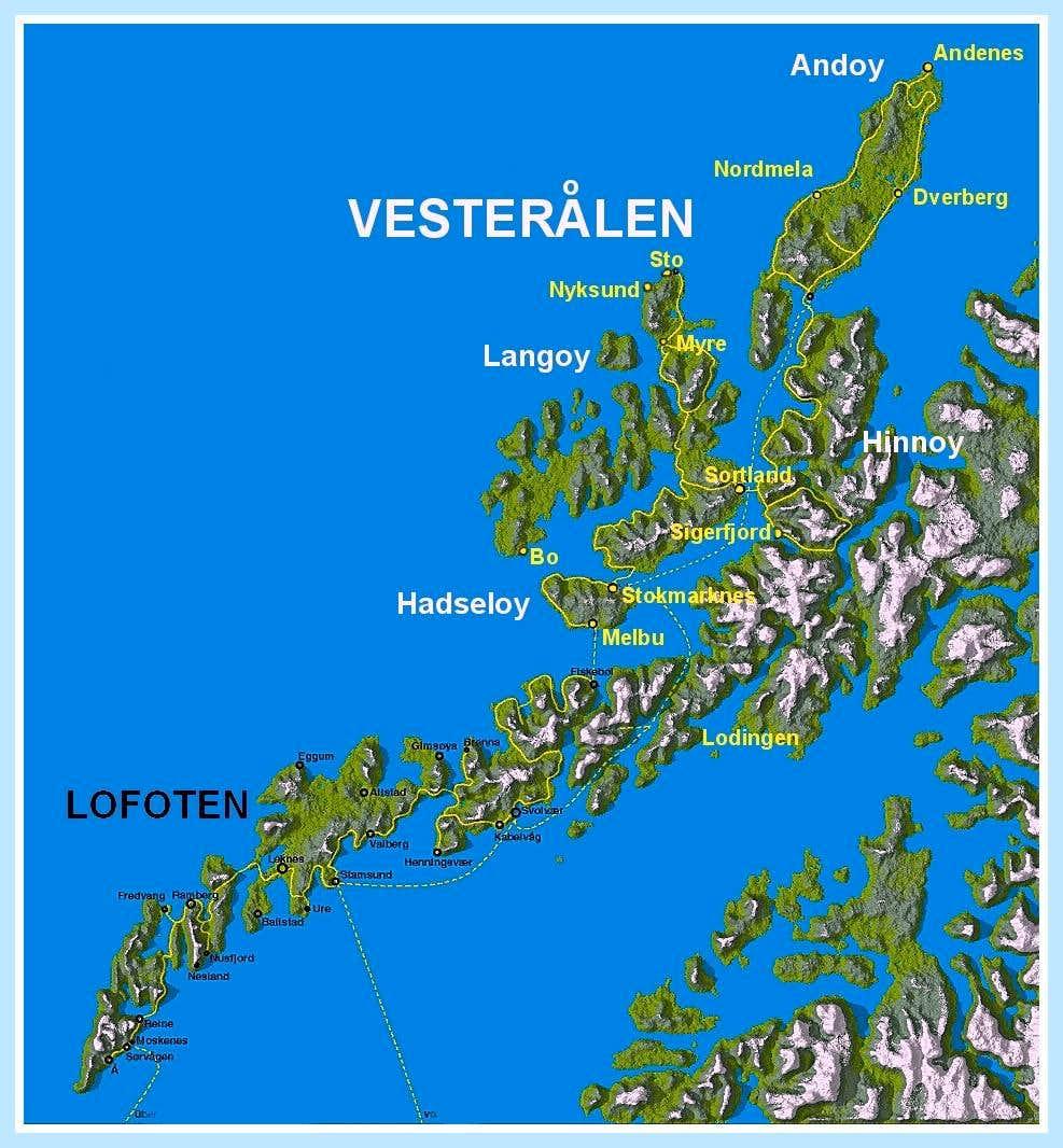 Vesterålen map