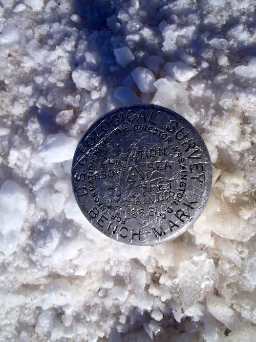Rainier summit marker