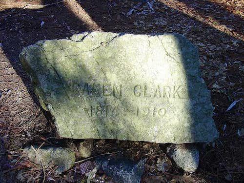Galen Clark's headstone, half...