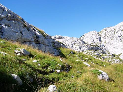 The route from south east to Bovec
