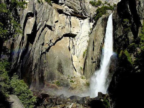 Lower Yosemite Falls from the...