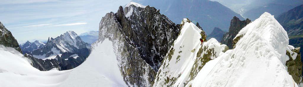 View from the Innominata Ridge