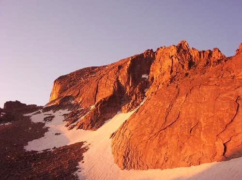 Beautiful alpenglow from the...