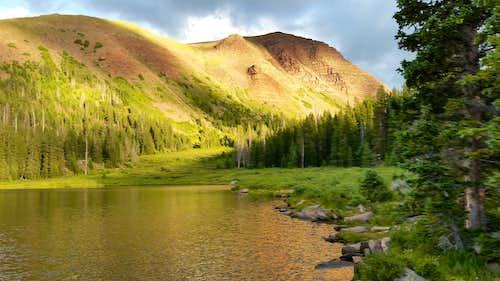 Sunset at Dollar Lake