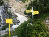 Clear signage to the summits