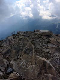 Elevation written on rocks